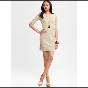 Banana Republic Nude lace dress Size 4